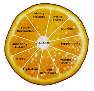 orange wellness wheel